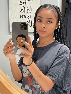 Box Braids Hairstyles For Black Women, Braids Hairstyles Pictures, Black Girl Braids, Girls Braids, Baddie Hairstyles, Girl Hairstyles, Curly Hair Styles, Natural Hair Styles, Skai Jackson