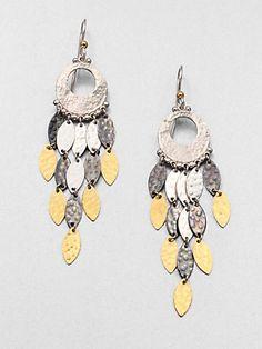 GURHAN - 24K Yellow Gold and Sterling Silver Chandelier Earrings - Saks.com