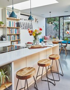Open Plan Kitchen Living Room, Kitchen Dinning, Kitchen Cupboards, Dining, New Kitchen Designs, Kitchen Images, Kitchen Ideas, Devol Kitchens, Home Kitchens