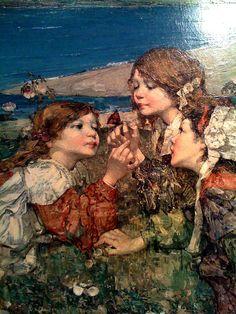Edward Atkinson Hornel Seashore Roses (detail)
