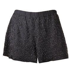 Black Topaz Beaded Shorts