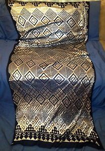 Exquisite Heavy Design Assuit Black Belly Dance Shawl Wrap Hip Scarf Veil Egypt | eBay