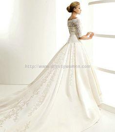 One-Shoulder Chic Style Satin Wedding Dress