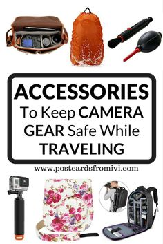 Tips for keeping your camera safe while traveling. Find out which are the accessories you should have