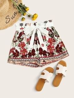 ((Affiliate Link)) Description Style:	Boho Color:	Multicolor Pattern Type:	Floral Details:	Belted Type:	Wide Leg Season:	Summer Composition:	100% Polyester Material:	Polyester Fabric:	Non-stretch Fit Type:	Regular Waist Type:	High Waist Belt:	Yes Lining:	No
