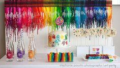 Somewhere over the rainbow  cake, jello decoration ideas