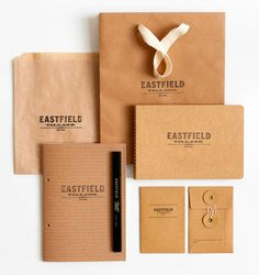 Hovard Design: Eastfield Village Identity #HovardDesign #grafica #corporate #vintage