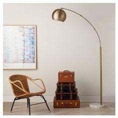Globe Arc Floor Lamp - Antique Brass - Threshold™