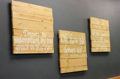 DIY wooden signs || Youth Group Room || Church Youth Room || aelivingblog.blogspot.com