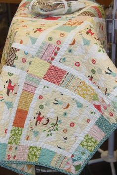 """Perhaps, eventually, I will try a quilt kit. This one is called, """"Fly a Kite"""".  Love the fabric."""