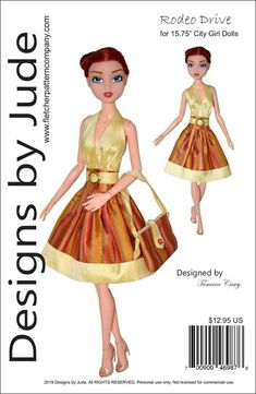 """Roaring Twenties Doll Clothes Sewing Pattern for 15.75/"""" City Girl Dolls Tonner"""