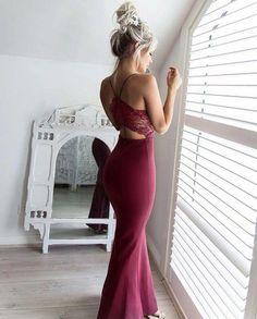 Burgundy Prom Dress,Mermaid Prom Dress,Lace Prom Dress,Fashion Prom Dress,Sexy Party Dress, New Style Evening Dress