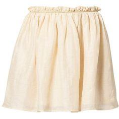 See u Soon Mini skirt (415 MXN) ❤ liked on Polyvore featuring skirts, mini skirts, bottoms, saias, beige, women's dresses & skirts, pink skirt, beige skirt, mini skirt and short skirts