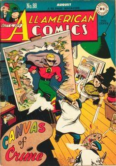 All-American Comics 88 Green Lantern golden age DC comics Old Comic Books, Vintage Comic Books, Vintage Comics, Comic Book Covers, Old Comics, Dc Comics Art, Pulp Fiction Comics, Ultimate Marvel, Classic Comics