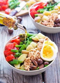 Chopped Nicoise Salad #nicoise #salad #recipe