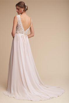 BHLDN Ivory/Blush Taryn Gown in  Bride | BHLDN