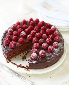 Raspberry, Chocolate Torte
