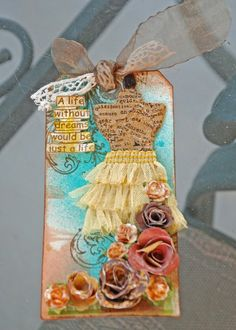 Project - Flower tag-use the dresses i have