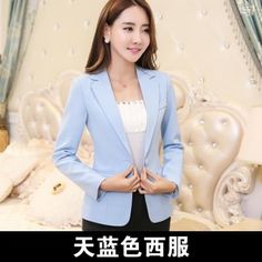 Women Blazer Work Blue Plus Size Slim Fit Female Blazer And Jackets White 4xl Fashion Single Button Ol Style Office Suits Ma119 Professional Design Suits & Sets