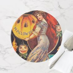 #Vintage Halloween Lady party cake stand - #Halloween happy halloween #festival #party #holiday