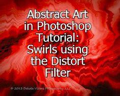 Abstract Photoshop Tutorial: Swirls with Distort Filter #photoshop #tutorial