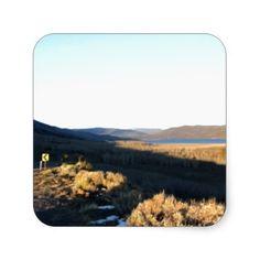 Blue Utah Skies Square Stickers