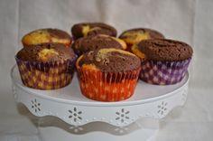 Noz Moscada e Gengibre: Muffins de mármore