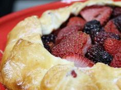 Rustic Strawberry and Blackberry Galette (a. Open-Faced Pie) - The Hungry Mouse How To Make Buttermilk, Compound Butter, Silicone Baking Mat, Buttermilk Pancakes, French Vanilla, Serving Platters, Cheese Platters, Blackberry, Strawberry