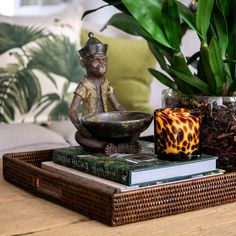 Make your home like a tropical island with plantation style interior. Shop this collection at Alfresco Emporium! Coffee Table Styling, Decorating Coffee Tables, Porch Decorating, West Indies, Summer Porch Decor, British Colonial Decor, Campaign Furniture, Chinese Buddha, Asian Design