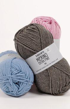 Garnstudio DROPS Merino Extra Fine yarn~ Group B 8 ply DK/ Worsted~superwash extra fine Merino wool. Knitting Wool, Wool Yarn, Baby Knitting, Merino Wool, Laine Drops, Garnstudio Drops, Knit Baby Sweaters, Seed Stitch, Drops Design