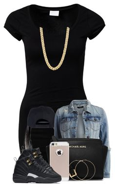 """""""poppin"""" by nigamexwell ❤ liked on Polyvore featuring VILA, Michael Kors, NIKE and Forever 21"""