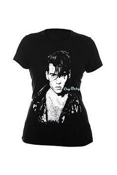 "CRY-BABY FACE GIRLS T-SHIRT  Was: $22.00 Now: $14.98   Somehow I don't think, when this movie first came out, that Johnny Depp thought ""In 21 years, people will be buying this movie poster on a tee"""