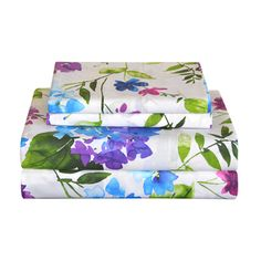 Shop for Pointehaven Primavera 200 TC Printed Cotton Percale Bed Sheet Set. Get free delivery On EVERYTHING* Overstock - Your Online Bedding Basics Store! Get in rewards with Club O! 100 Cotton Sheets, Cotton Sheet Sets, California King Sheets, Old Sheets, Queen Sheets, Percale Sheets, Bedding Basics, King Sheet Sets, Deep
