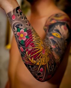 Japanese tattoo sleeves by Swipe to the side to see all 3 tattoos! Tribal Tattoo Designs, Half Sleeve Tattoos Designs, Arm Sleeve Tattoos, Japanese Tattoo Designs, Leg Tattoos, Body Art Tattoos, Tribal Tattoos, Tattoo Sleeves, Leg Sleeves
