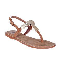 Sandalia plana monedas - Sandalias planas - Zapatos - Tiendacuple.com