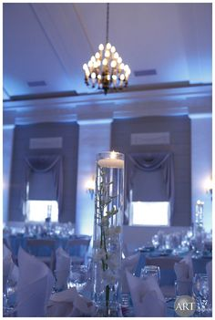 Creative floating candle #centerpiece at 19th Century Club