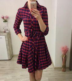 Kárované šaty Dresses With Sleeves, Long Sleeve, Fashion, Moda, Sleeve Dresses, Long Dress Patterns, Fashion Styles, Gowns With Sleeves, Fashion Illustrations