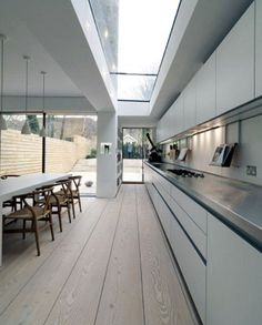 Great linear detailing to stretch and make the space feel larger. www.methodstudio.london