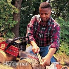 Dull chain saws are slow—and dangerous. Transform your slow-cutting chain saw into a firewood-cutting ninja! You can sharpen the chain right on the saw and right by the wood you're cutting. Do it often, and you'll get years of sharp cutting life from your chain.