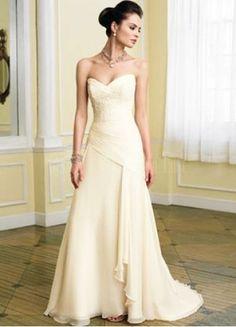 $149.99 : Strapless Chiffon Taffeta A-Line Wedding Dress With Pleats