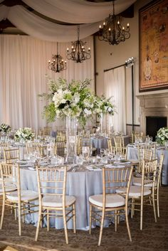 Classic California Wedding with Outdoor Ceremony & Indoor Reception Tall Centerpieces with White Blo Indoor Wedding Receptions, Wedding Reception Decorations, Outdoor Ceremony, Wedding Centerpieces, Wedding Ideas, Wedding Ceremony, Wedding Decorations Wholesale, Indoor Wedding Chairs, Reception Ideas
