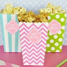 Personalized Popcorn 'n Treats Boxes by Beau-coup