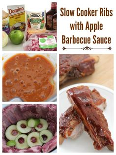 Slow Cooker Ribs with Apple Barbecue Sauce - Family Food And Travel