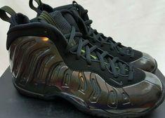 4a88579bc62 Nike Foamposite Little Posite One GS Legion Green Black 644791-301 Size  4.5Y