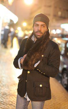 (hopefully fake?) fur for men. interesting.