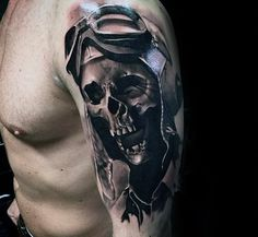 Discover bold bones with the top 50 best skull tattoo designs for men. Explore cool three dimensional cranium and bold bone ink ideas. 3d Tattoos, Skull Tattoos, Cool Tattoos, Skull Tattoo Design, Tattoo Designs Men, 3d Artwork, Three Dimensional, Ink, Image