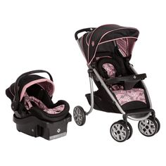 Safety SleekRide LX Travel System, Vintage Romance, Give your child (and yourself) a smooth and easy ride with the SleekRide LX Travel System featuring an Air infant car seat with Air Protect Technology. SleekRide stroller is ultra-compact, Best Baby Travel System, Travel Systems For Baby, Car Seat And Stroller, Travel Stroller, Jogging Stroller, Baby Girl Gear, Girl Car, Duvet, Crib Bedding