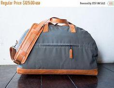 SUMMER SALES Large weekend bag shoulder bag handmade canvas