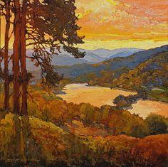 Sold Fine Art - Vander Molen Fine Art in Pasadena River Painting, House Painting, Landscape Art, Landscape Paintings, Landscapes, American Artists, Poppies, Art Nouveau, Past