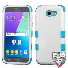 MYBAT TUFF Samsung Galaxy J3 Emerge Case - Natural White/Teal